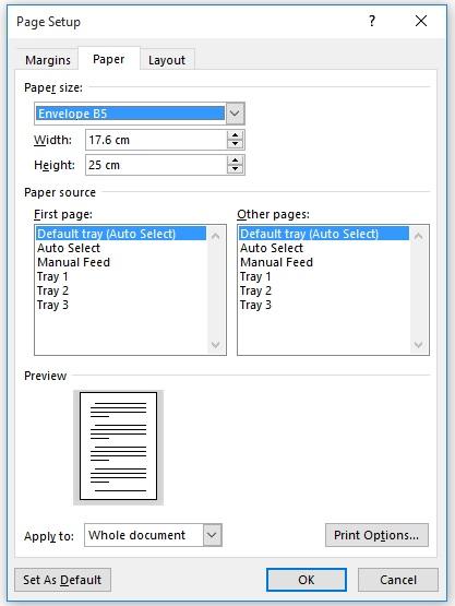 آمادهسازی فایل برای صفحهبندی کتاب - تغییر ابعاد فایل