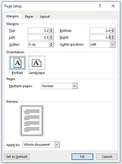 آمادهسازی فایل برای صفحهبندی کتاب - تنظیم مارجین